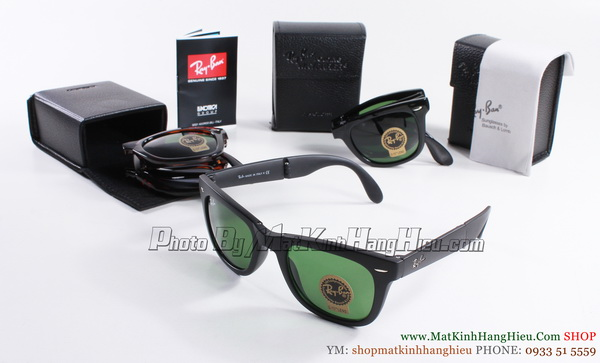 rayban folding wayfarer 4105