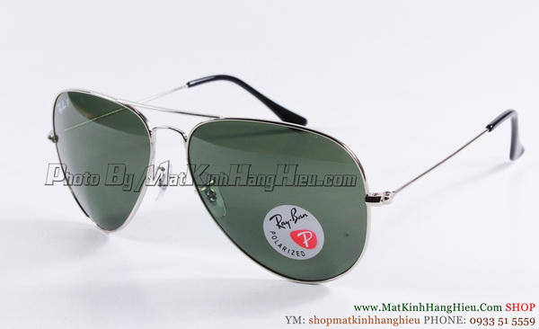 rayban 3026 polarized 3p gọng trắng