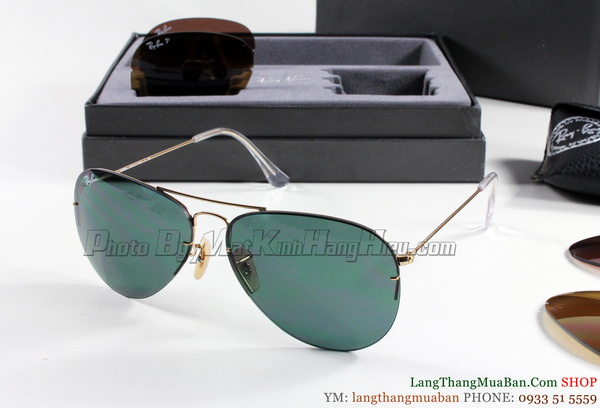 Rayban 3460 001/71 AVIATOR FLIP OUT hnh 2