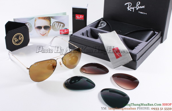 Rayban 3460 001/71 AVIATOR FLIP OUT