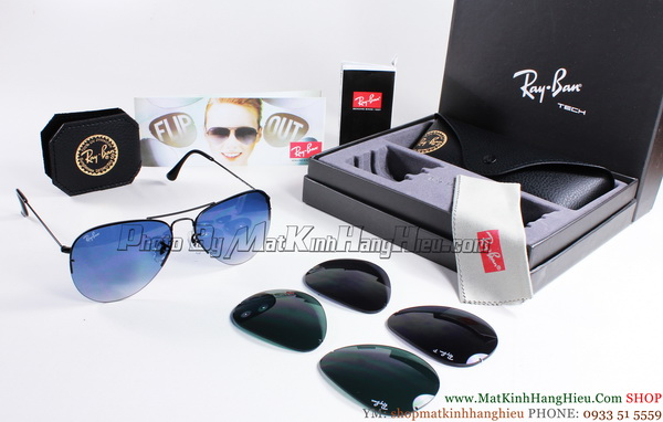 Rayban 3460 002/71 AVIATOR FLIP OUT