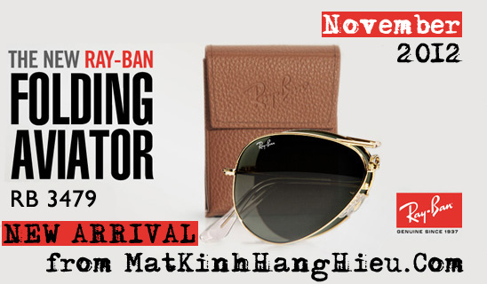 Rayban folding aviator rb3479