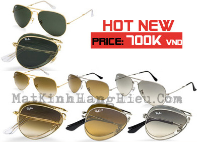 Rayban folding aviator rb3479 nhiu mu